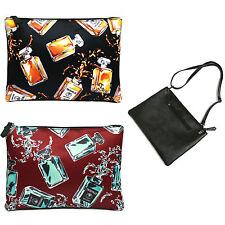 Korea Women PERFUME 2 Clutch Cross Pouch Bag Handbag Faux Leather Polyester NEW