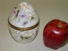 Antique White Opaline Glass Vanity Trinket Box Hand Painted Enamel Hinged Ormolu