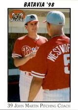 1998 Batavia Muckdogs Team Issue #16 John Martin New Port Richey Florida FL Card