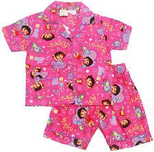 NEW SIZE 1-6 KIDS SUMMER GIRLS PYJAMAS BUTTON DORA SLEEPWEAR NIGHTIES PJS TEES