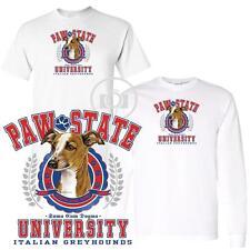 Italian Greyhound Paw State University Short / Long Sleeve White T Shirt M-3X