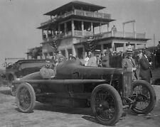 Louis Chevrolet in racecar at Sheepshead Bay Speedway on Long Island Photo Print