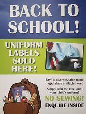 Iron on name labels. School uniform, PE kit, school bag personalised name lot