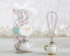 Spring Garden Tea Party Teapot Whisk Bridal Shower Birthday Wedding Favors