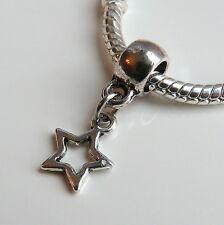 Dallas Fan Cowboy Star Charm Spacer Bead for fit european bracelets & necklace