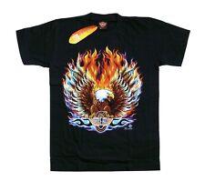 T-Shirt Adler+Feuer: S, M, L, XL, Rocker Chopper Biker Motorrad Flammen Indianer