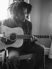 Bob Marley Guitar Reggae Singer Music BW HUGE GIANT PRINT POSTER