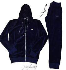 El tiempo es dinero Velour Jogging Conjunto, Star Hip Hop Para Hombre Chándal Slim Fit Azul Marino Blu