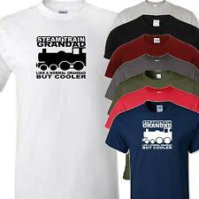 steam train grandad t shirt