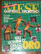 GUERIN SPORTIVO 1986 MESE 8/9 FOTO PAPERONI DELLO SPORT POSTER BORIS BECKER