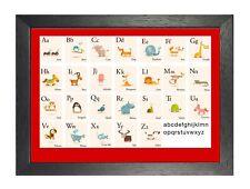 L'éducation Alphabet Animaux Poster Photo animation enfants école imprimé photo