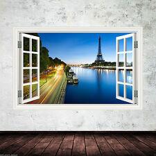 Full Colour Parigi Torre Eiffel Wall Sticker Decalcomania Trasferimento Stampa WSD335