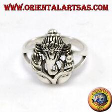 Anello in argento 925  con testa di  Ganesha o Ganesh