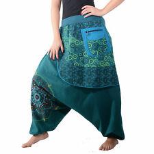 Bunte Ibiza Style Haremshose aus Baumwolle - Goa Wellnesshose