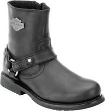 Harley-Davidson Scout Black 7-Inch Leather Boots, Side Entry Inside Zip. D95262