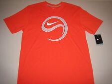 "Nike ""Snake Ball"" Dri-Fit Baseball T-Shirt Orange Blaze Men's Medium Large XL"