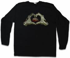 ZOMBIE HEART LANGARM T-SHIRT Living Dead The Walking Fun Smile Zombies Brain