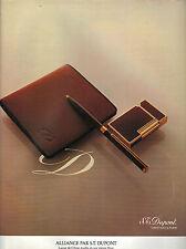 PUBLICITE ADVERTISING 1980   DUPONT  PARIS  briquet stylo portefeuille    271212