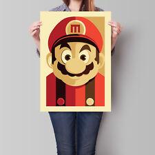 Super Mario Poster Retro Wall Art A2 A3 A4