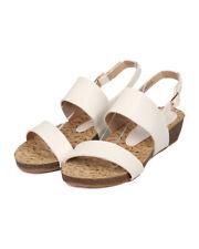 New Women Refresh Baha-03 Leatherette Open Toe Slingback Low Wedge Sandal