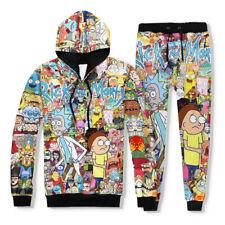 Movie Rick and Morty Printing Hoodie Jacket Cap Coat Cosplay Costume Sweatshirt