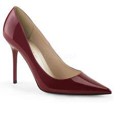 Pleaser CLASSIQUE-20 Women's Raspberry Patent Pointed Toe Pump Stiletto Sandals