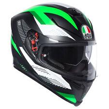 AGV K5-S Marmo Nero OPACO / Bianco/Verde Integrale Casco da Moto Motocicletta