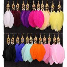 Goose Feather Dangle Eardrop Hook 1Pair Fashion Women Jewelry Handmade Earrings