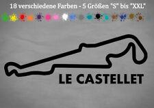 LE CASTELLET Autocollant circuit Paul Ricard f1 GP France 18 Couleurs 5 Tailles