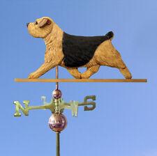 Norfolk Terrier Hand Carved Hand Painted Basswood Dog Weathervane Black &Tan