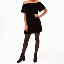 Ann Taylor Loft Velvet Off The Shoulder Swing Dress NWT