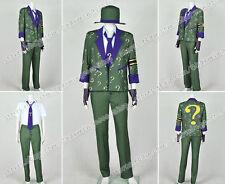 Batman: Arkham City Cosplay The Riddler Dr. Edward Nigma Costume Green Uniform