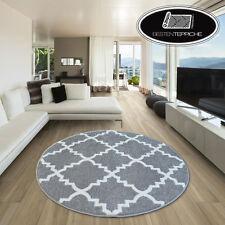 Modernen Weich Teppich SKETCH TRELLIS F343 Kreis Grau/weiß Angenehm Modisch