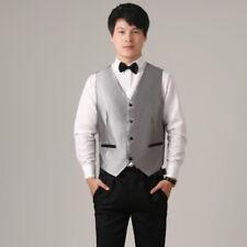 Men Satin Wedding Dress Vest Waistcoat Slim Top Jacquard Tuxedo Dinner Soft Chic