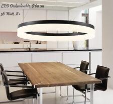 Lampada Sospensione LED 6053Black 80x60x40cm Anelli Bianco Neutro Telaio