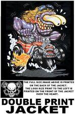 BIG HOT STREET RAT ROD DADDY MONSTER CAR BLOWER V8 SKULL FLAMES JACKET WS159