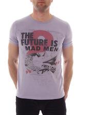 Freesoul T-Shirt Oberteil Shirt Oxford lila Rundhals Aufdruck Future
