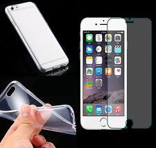 Transparente Silikon Handy Schutz Hülle Tasche Bumper Case + Panzerschutzglas 9H
