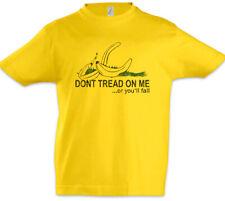 Don't Tread On Me III Kinder Jungen T-Shirt Gadsden US Flag Banana Fun Banane