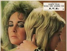 ELIZABETH LIZ TAYLOR X Y & ZEE 1972 VINTAGE PHOTO LOBBY CARD N°1