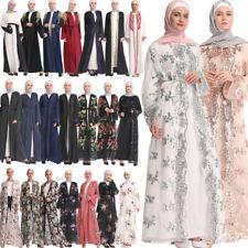 Dubai Open Style Cardigan Abaya Muslim Prayer Kaftan Arab Women Robe Maxi Dress