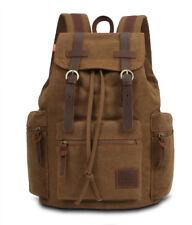 KAUKKO Men WOMEN Vintage Casual Canvas Rucksack Backpack Travel School Bag