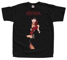 Elvira: Mistress of the Dark V24, movie poster, T-shirts (BLACK) ALL SIZES S-5XL