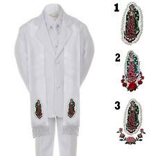6PC Baby Toddler Kid Teen Boys Communion Baptism White Tuxedo Suit Stole SM-20