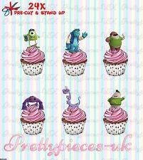 Monster Inc 24 Stand-Up Taza de papel de oblea de pre-cortado Cake Toppers