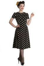 Hell Bunny Madden 40er Jahre retro Polka Dots Kleid Rockabilly Pin Up