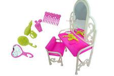 Jolie barbie sindy poupée meubles coiffeuse, fauteuil et accessoires royaume-uni vendeur