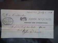 1884 John McQuaid Florist Englewood NJ Bill Head