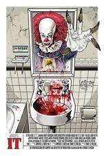 IT Stephen King Horror Movie DIgital Art Poster Print *A4 A3 A2 A1 A0* T690