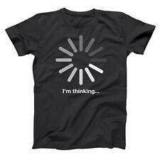 I'm Thinking Funny Geek Humor Gamer Black Basic Men's T-Shirt